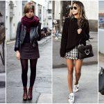 looks con minifalda para el invierno