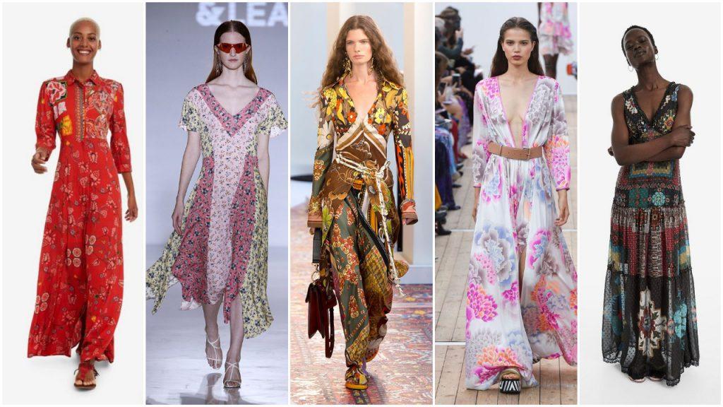 estilo bohemio años 70 verano 2020 Tendencias de moda mujer