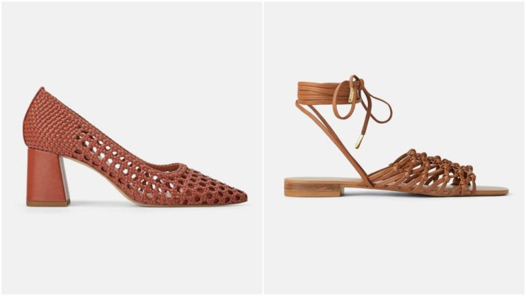 sandalias y zapatos trenzados verano 2020 Tendencia en calzados mujer