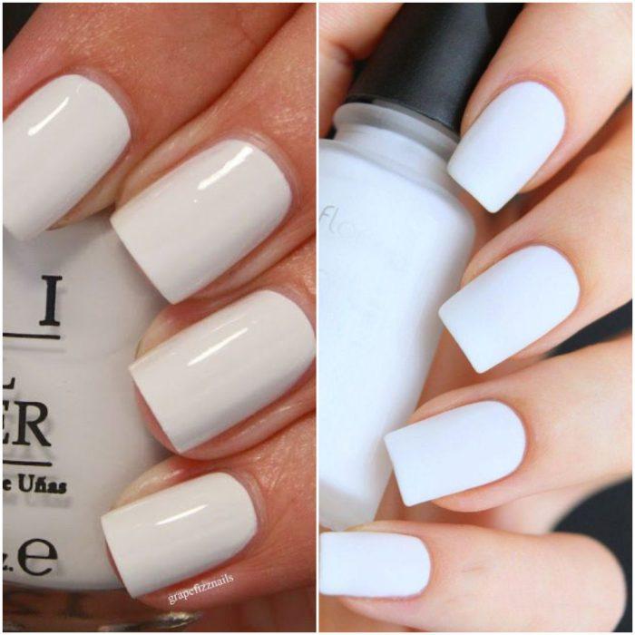Esmaltes de uñas blancos verano 2020 Tendencias