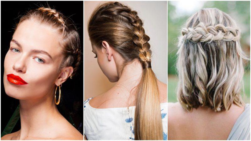 Peinados para mujer con trenzas verano 2020
