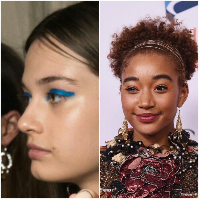 Sombras y delineadores en tonos block neon TEndencias en maquillaje verano 2020