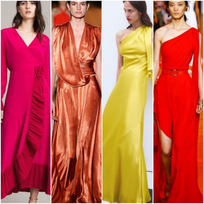 Vestidos de fiesta colores alegres primavera verano 2020 Tendencias