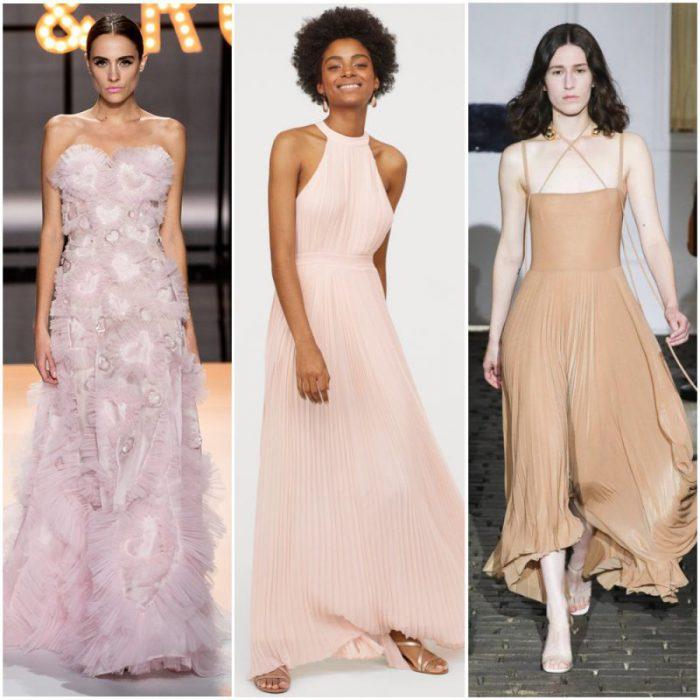Vestidos de fiesta colores pateles claros primavera verano 2020 Tendencias