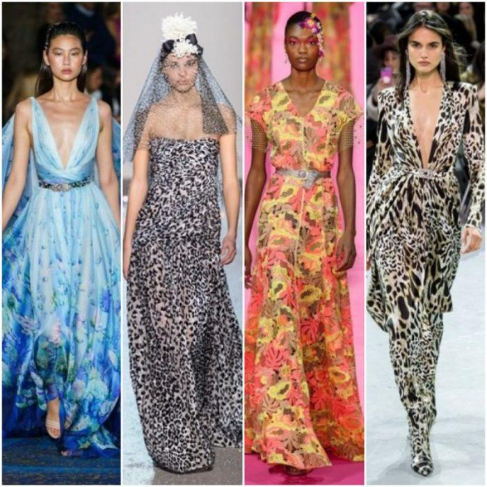 Vestidos de fiesta estampados primavera verano 2020 Tendencias
