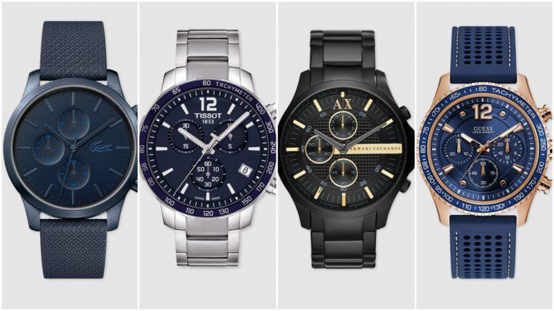 Relojes elegantes con cronometros para hombres tendencias moda 2020