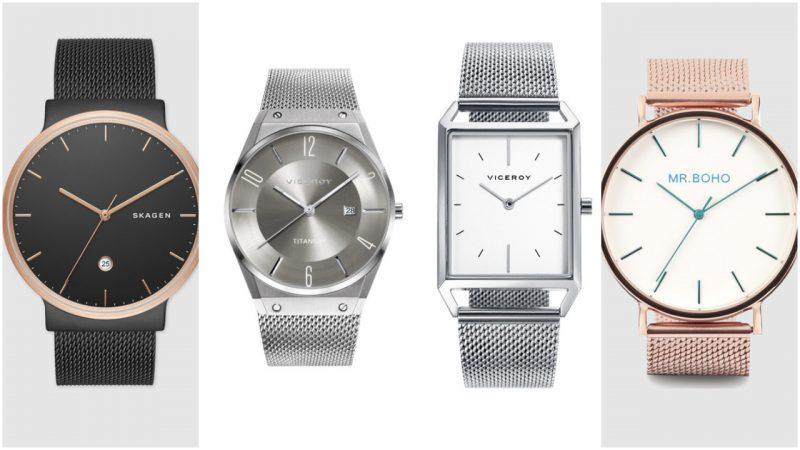 Relojes elegantes malla metalica para hombres tendencias moda 2020