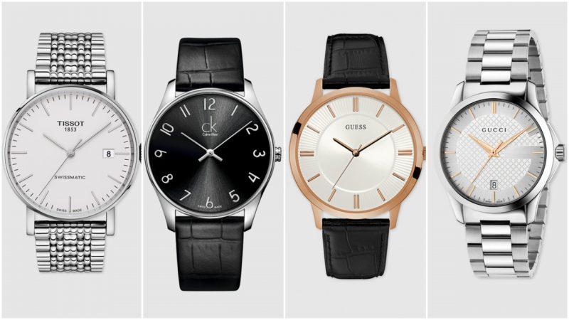 Relojes elegantes minimalistas para hombres tendencias moda 2020