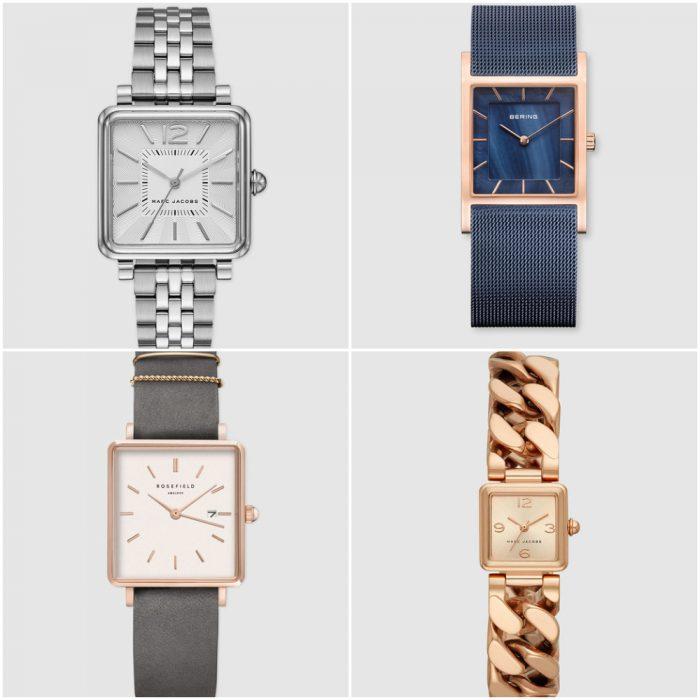 Relojes mujer esferas cuadadas verano 2020 Tendencias