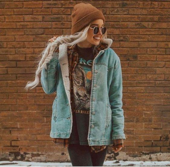 look urbano mujer Hipster