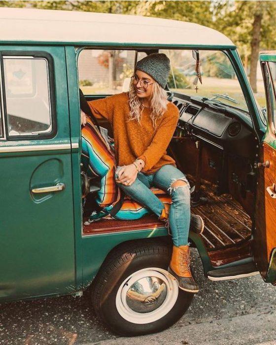 outfits Hipster para mujer invierno