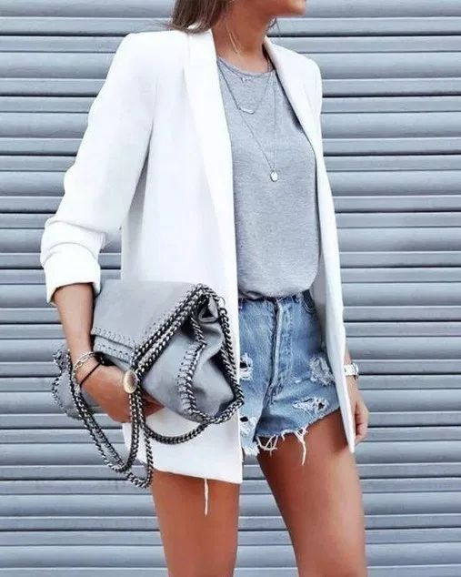 blazer blanco