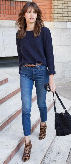 jeans y botitas animal print