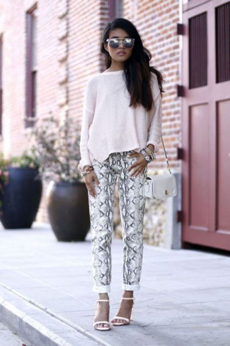 look animal print y blanco