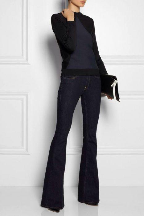 outfits informal en jeans elgante