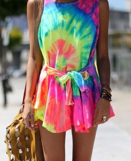 vestido tie dye fluor
