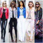 Look en chaqueta de cuero para mujer moderna