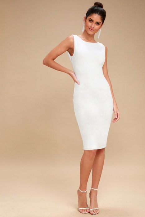 Look formal vestido blanco 1