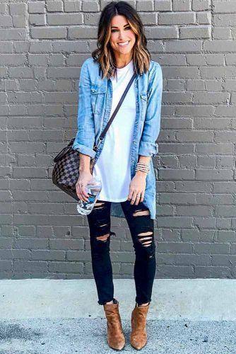 camisa de jeans extragrande como campera