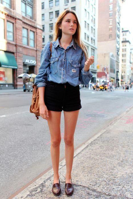 camisa vaquera con jeans