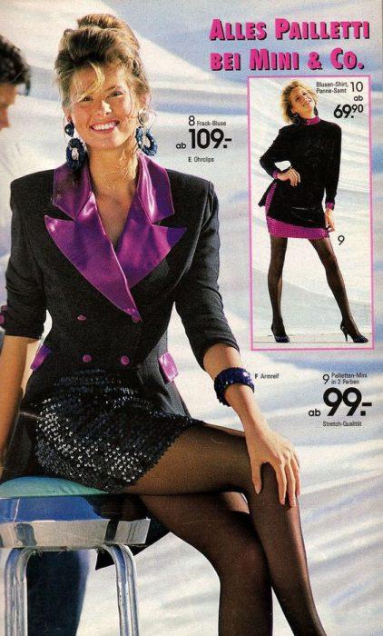 falda de los 80 de lentejuela