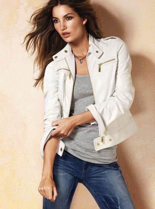 outfits basico casual campera jeans blanca