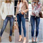outfits con jeans ajustados para mujer