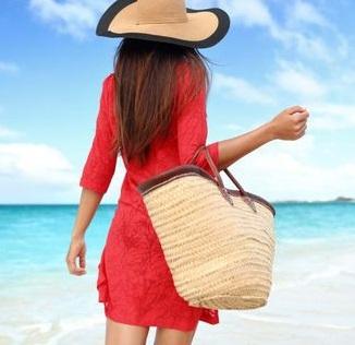 bolso grande de yute para la playa