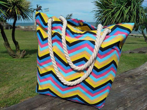 bolsos de lona para la playa