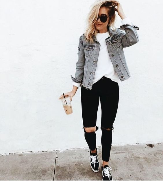 campera jeans juvenil verano