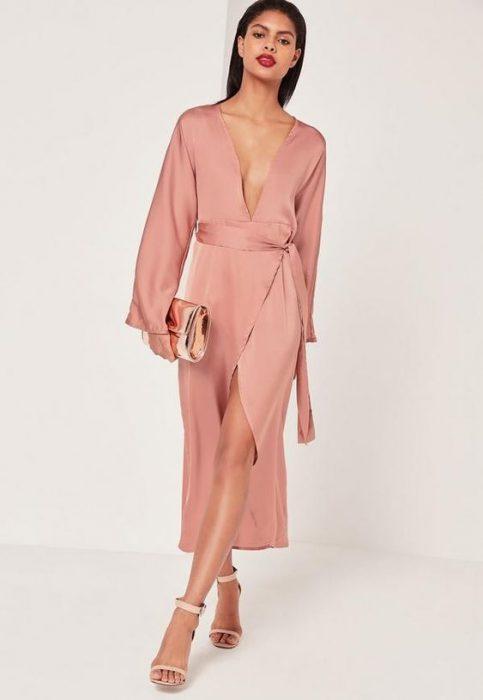 kimono de seda como vestido