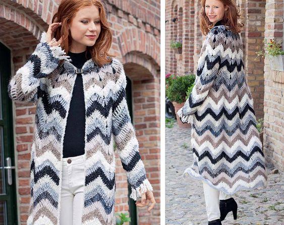 kimono largo tejido en lana