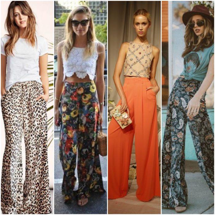 Como Combinar Un Pantalon Palazzo De Moda 2021 Muy Trendy