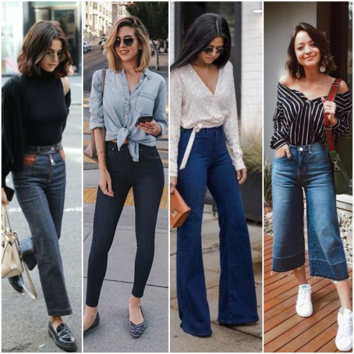 outfit con jeans tiro alto