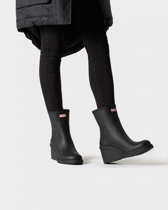 botas con tacos para dias de lluvia