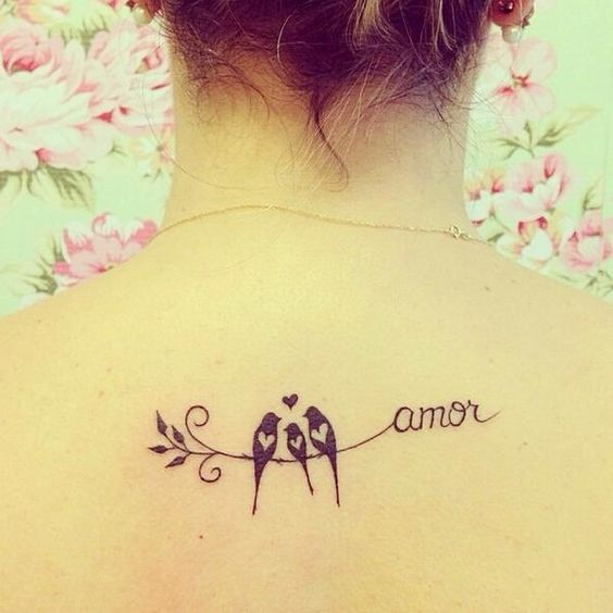 tatuaje pajaros amor familia
