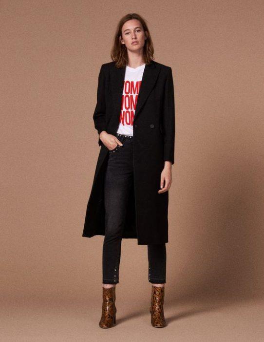 look casual con blazer largo