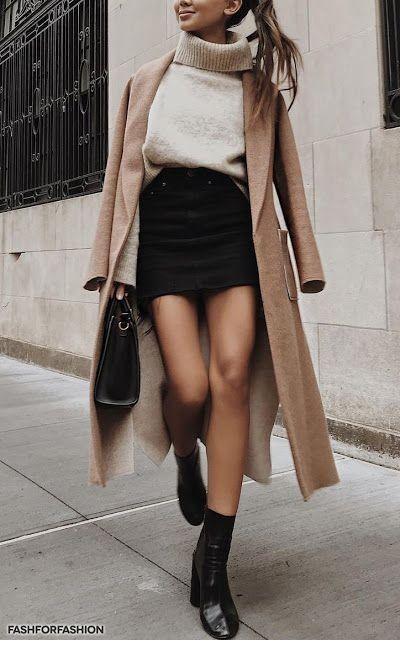 minifald jeans con tapado invierno