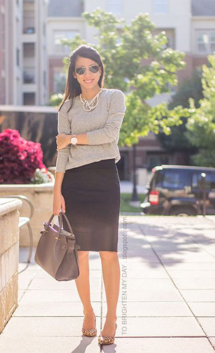 falda para ir a la oficina