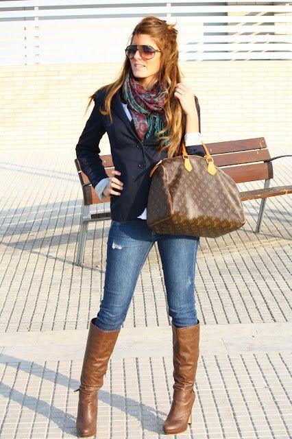 look urbano botas latas y jeans