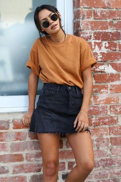 minifalda jeans negra juvenil