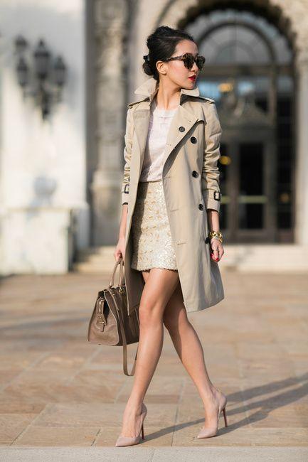 gabardina con falda