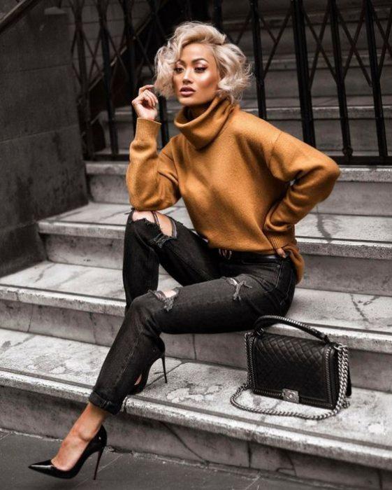 jeans negro invierno 2020