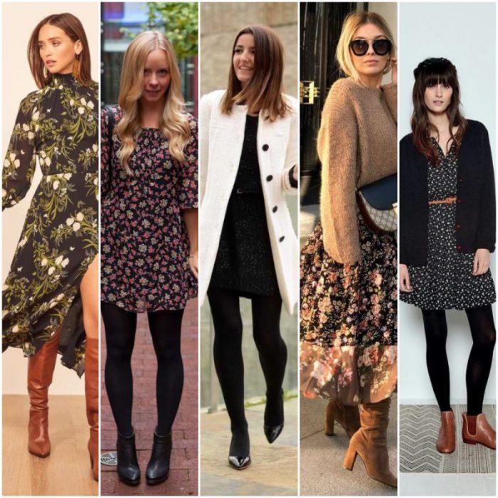 looks urbanos con vestidos para invierno