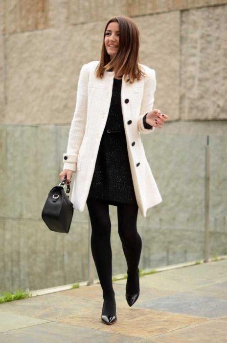 vestidos con tapados look urbano elegante