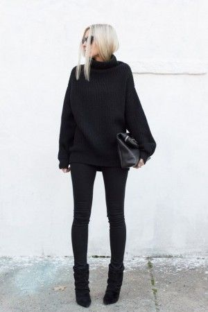 bota arrugada con jeans negro