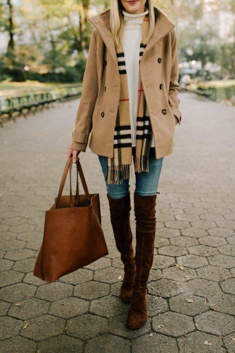 look urbano saco de paño cortp