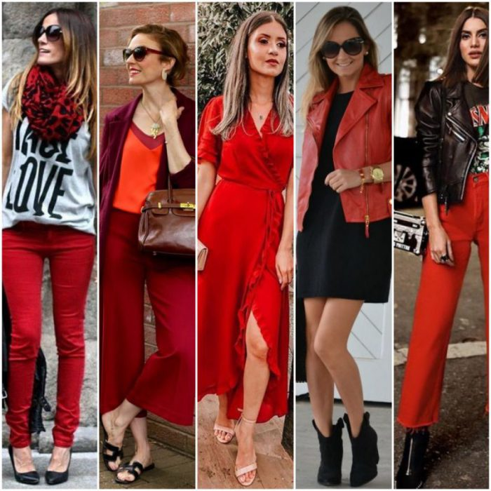 looks con color rojo mujer