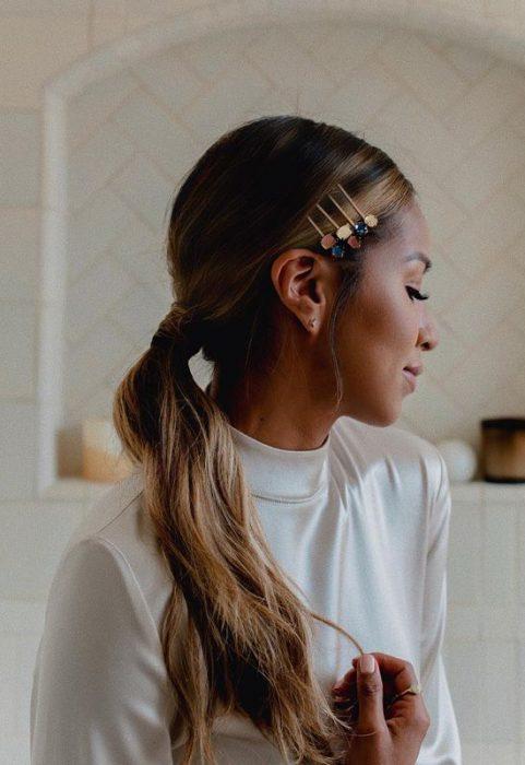 peinados con invisibles