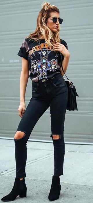 Outfits Con Jeans Negros Para Mujer 2021 Muy Trendy